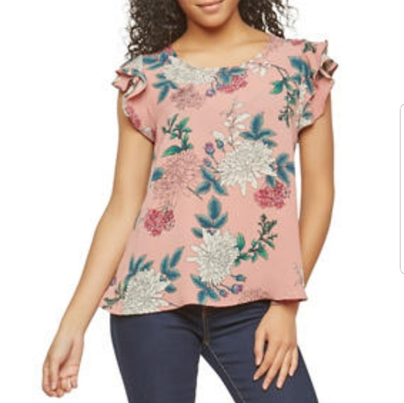 Tops - Floral Crepe Knit Top for juniors